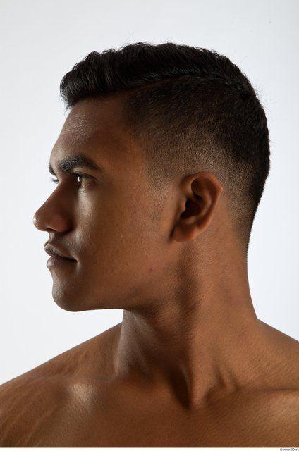 PHOTO OF HEAD MAN ANIMATION REFERENCES BLACK SLIM