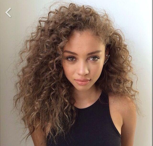 Curly hair medium blonde light brown xx