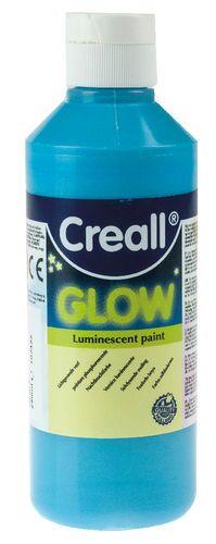 Creall® Glow - Pintura fosforescente, 250ml azul