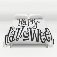Duvet Cover featuring HAPPY HALLOWEEN by Acus