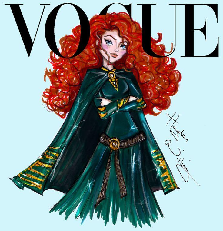 #Disney Divas for Vogue by Hayden Williams: Merida #Hayden Williams Fashion Illustrations