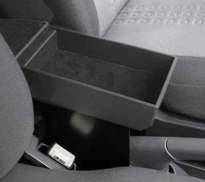 FIAT PANDA CLASSIC (2003-2012) Armrest with large storage in black Eco-leather