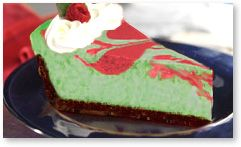 Peppermint Cheesecake Low Carb. Try with plan approved sweeteners, so pretty for holidays!