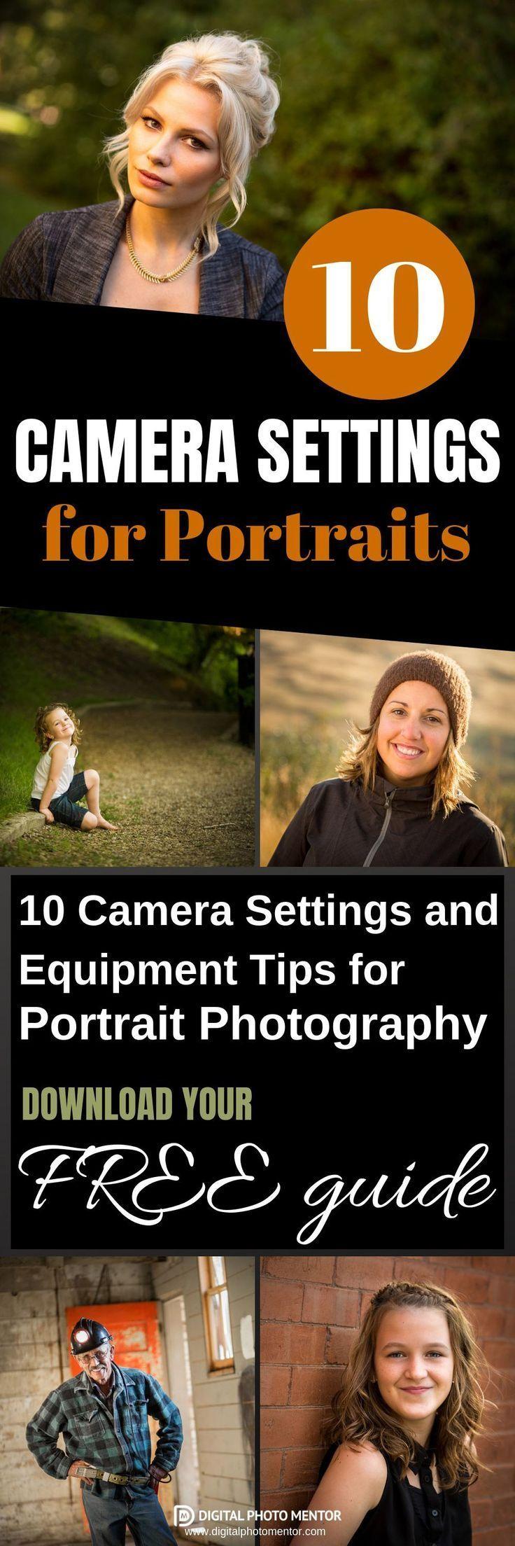Kameraeinstellungen für Porträts – Nehmen Sie Bilder von besseren Menschen auf …   – Fotografie