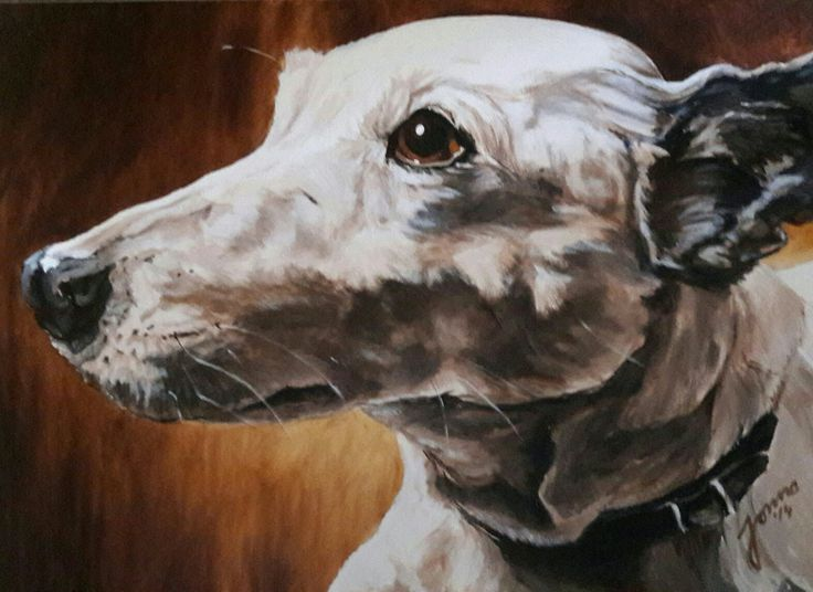 "Portrait of my brave dog ""Patty"" made by Jonna Sips"