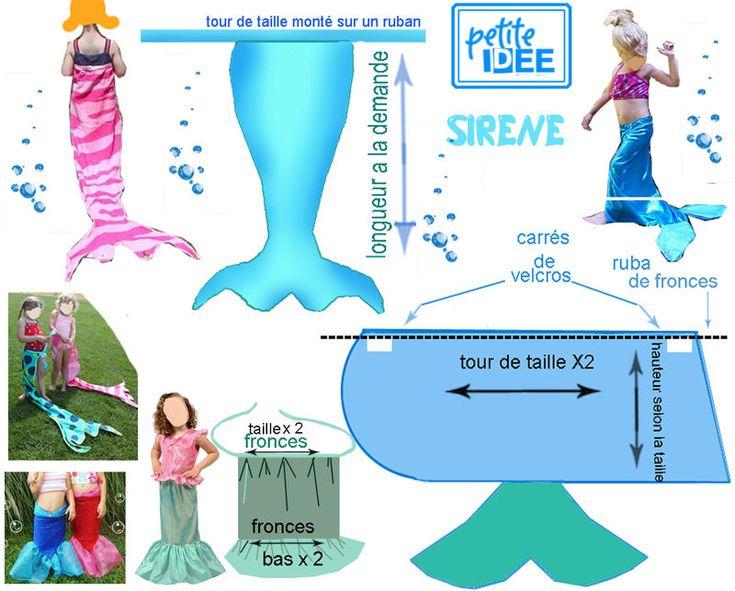 Les 25 meilleures id es concernant costume de sir ne pour enfants sur pinterest d guisements - Deguisement princesse a faire soi meme ...