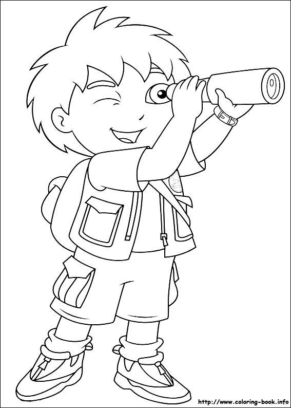 Go, Diego, go! coloring picture