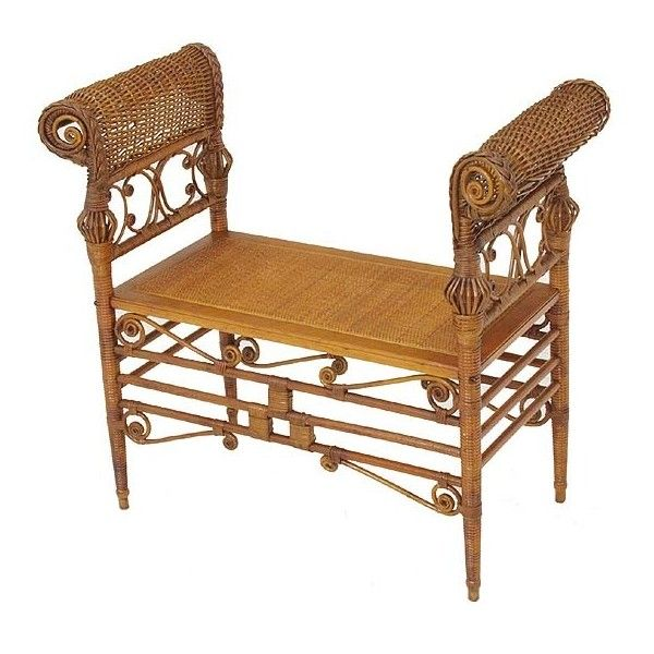 Victorian Wicker Turkish Chair found on Polyvore featuring polyvore