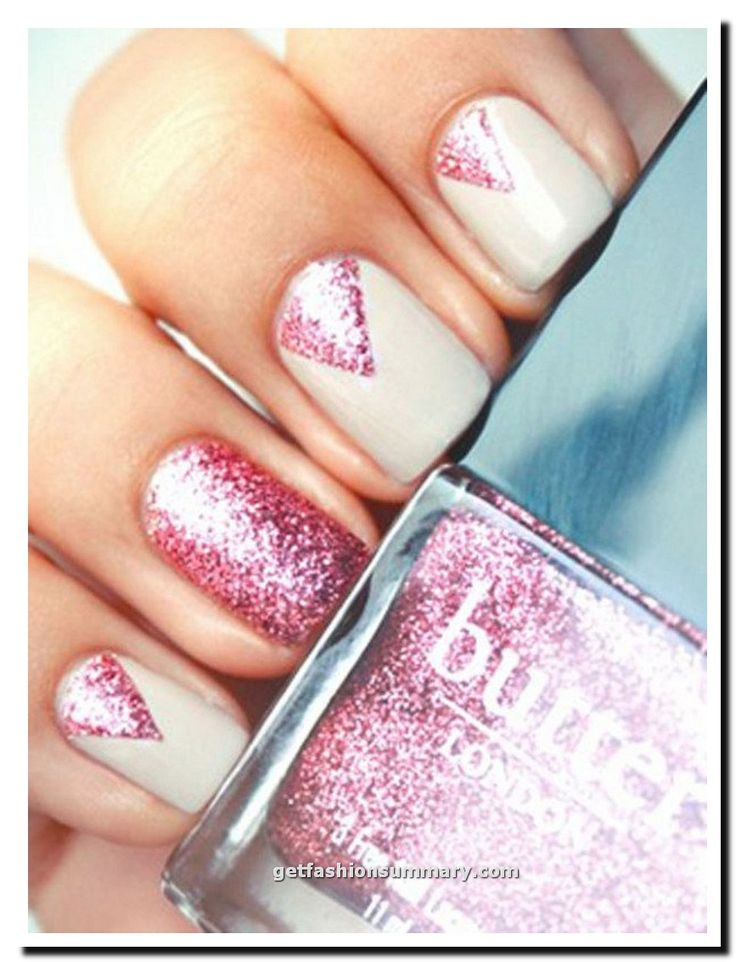 Pink Nail New Years Eve Sparkle