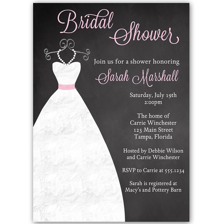 39 best Wedding Gown Invitations images on Pinterest - bridal shower invitation templates download
