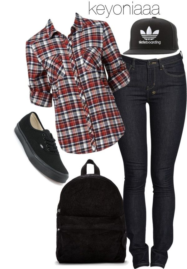 skater chick by keyoniaaa on Polyvore