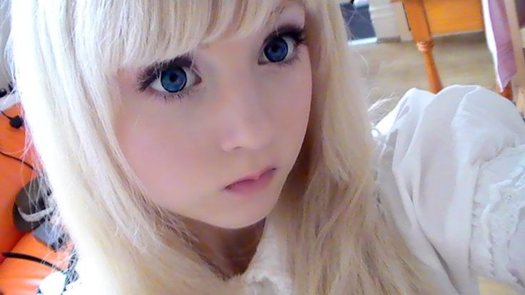 How to make up and look like a doll step by step DIY tutorial instructions, How to, how to do, diy instructions, crafts, do it yourself, diy website, art project ideas