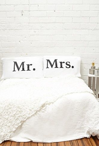Rise and Fall Mr Mrs Pillowcase Set | Forever 21 | #f21home