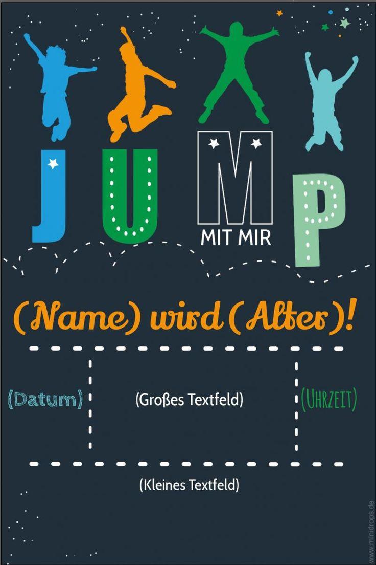 Einladungskarte JUMP BOY | Einladungskarten