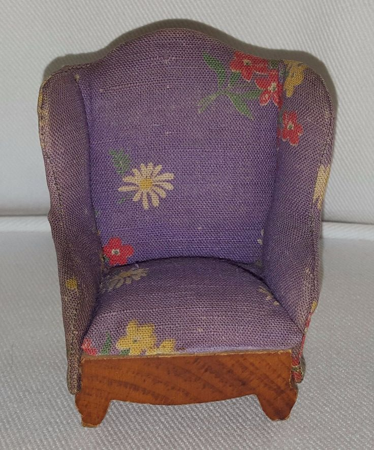 Vintage KAGE High-back Armchair - 1:16 scale dollhouse miniature from the 1940s | eBay