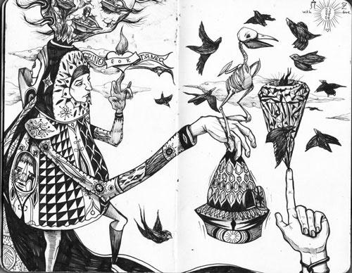 Sketchbook   2008 by Vasiliy Grino, via Behance