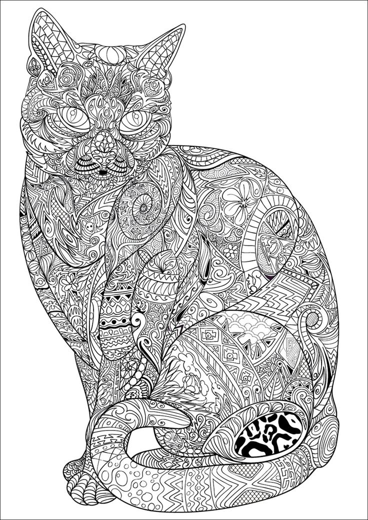 Free Coloring Pages Of Dogs And Cats : 629 best ✐adult colouring~cats~dogs ~zentangles images on pinterest