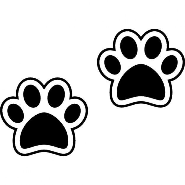Pawprints cão Ícone grátis