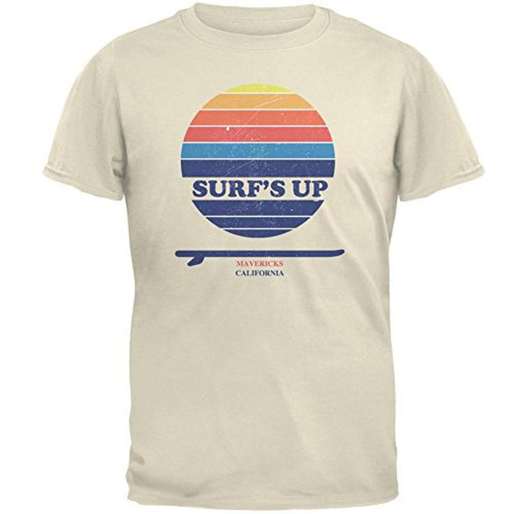 Surf's Up Mavericks California Mens T Shirt