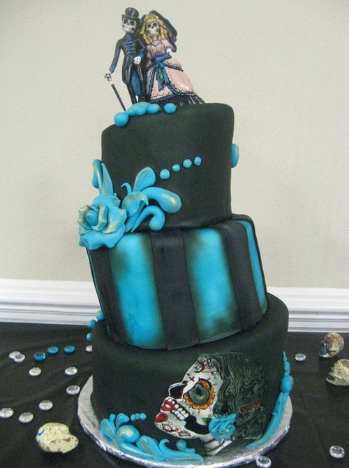 day of the dead wedding cake | Amazing Cakes | Pinterest ...