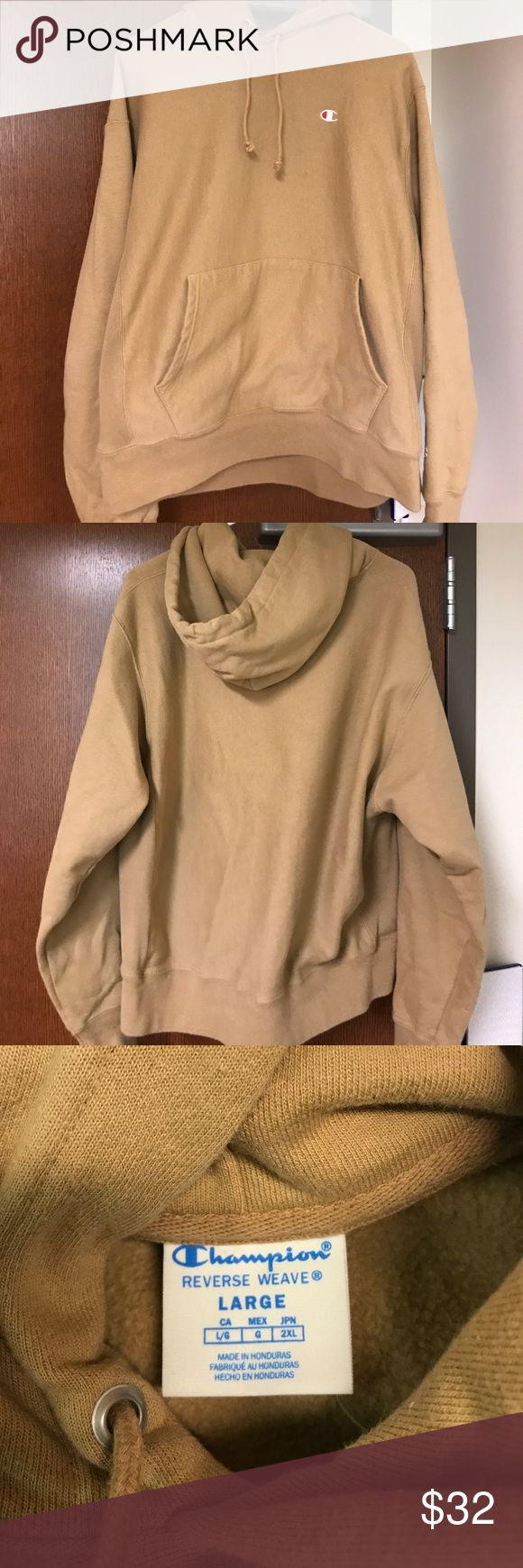 Champion Hoodie Reverse Weave A tan Champion reverse weave hoodie; size L Champion Shirts Sweatshirts & Hoodies