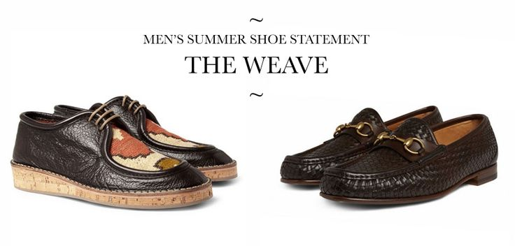 Burberry tribal woven shoes ss 2012 and woven leather horsebit loafers by Gucci  men's footwear