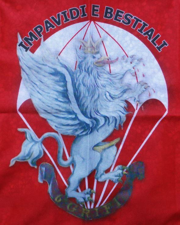 "Bandiera 6° COMPAGNIA ""GRIFI"" - 187° Rgt. PARACADUTISTI FOLGORE"
