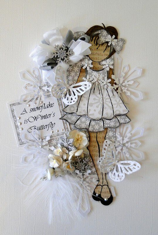 Prima Paper Doll Tag Winter