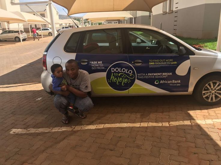 One of our #AfricanBank #DololoToHololo drivers getting paid to get the conversation started. #EarnExtraCash #BrandYourCar #Bucks4Influence