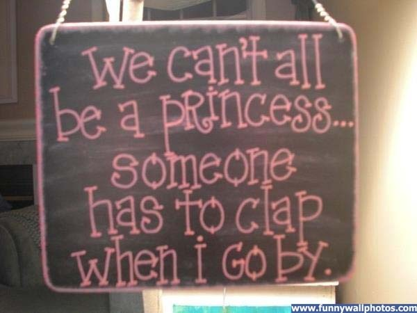 We Can't All Be A Princess...I can hear my sweet princess saying this. LOL