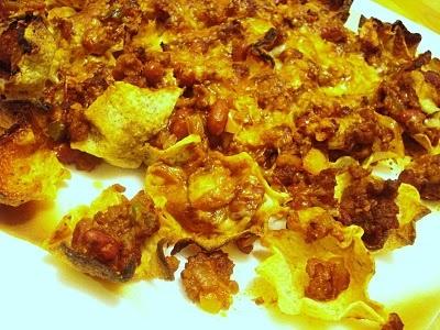 Nachos au chili sin carne