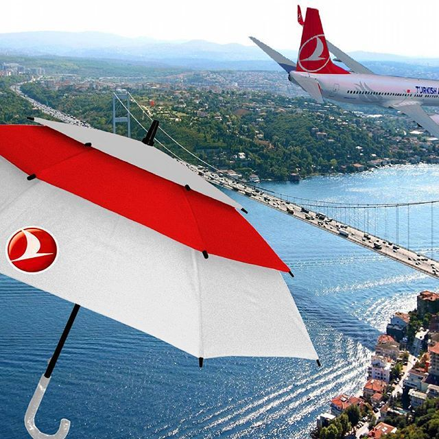 Promotional 3Layer umbrella  Efficient windproof umbrella   Rain / Sun protective umbrella    #windproof #advertising #umbrella #promotional #promotionalproducts #Turkey #turkish #airline #Patented #unique #new #design #aviation