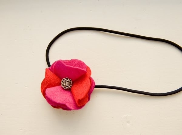 Little Birdie Secrets: ruffled felt rose headband | Creating something ...