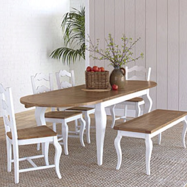 Avignon Dining Set Table Four Chairs And Bench From