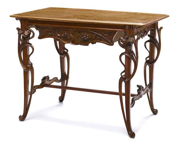 A French Art Nouveau carved mixed wood table circa 1900905 best Art Nouveau Furniture   Interiors images on Pinterest  . Art Nouveau Furniture. Home Design Ideas