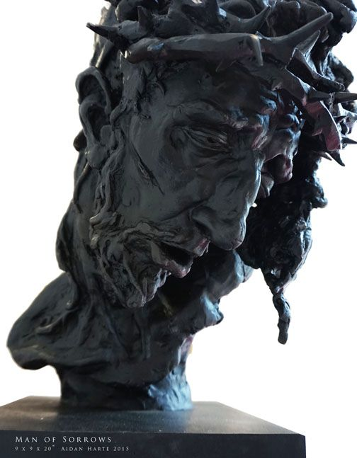 'Man of Sorrows' 2015 bronze by Aidan Harte #thepassion