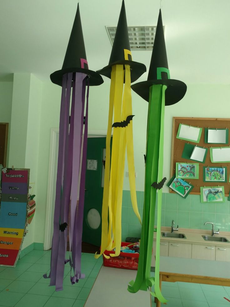 Witch hat Halloween classroom decoration