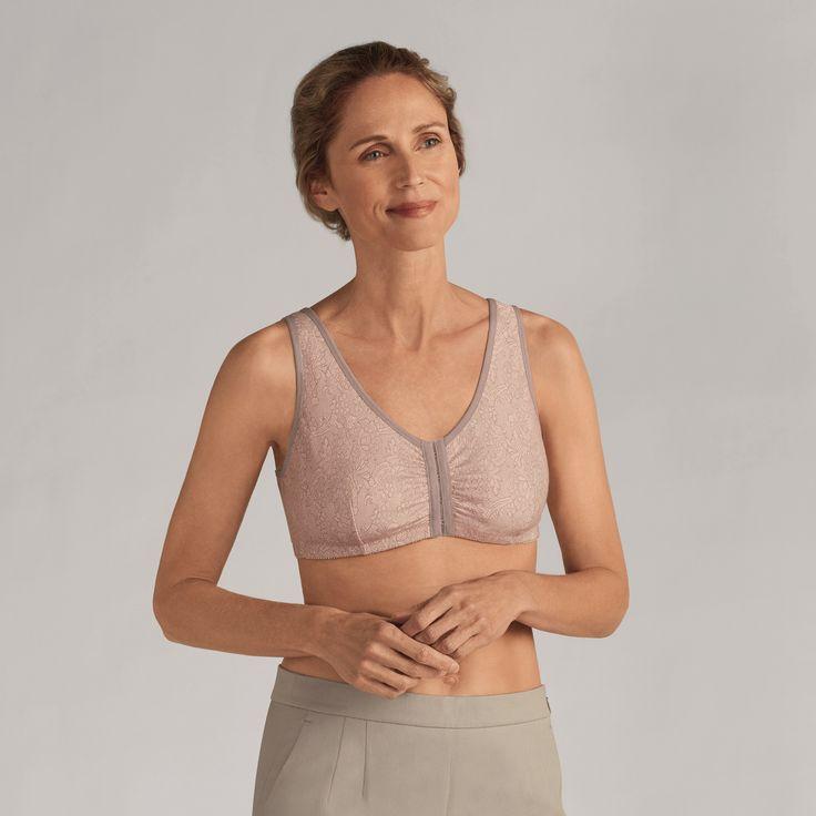 Amoena Frances Mastectomy Bra - Taupe Lace