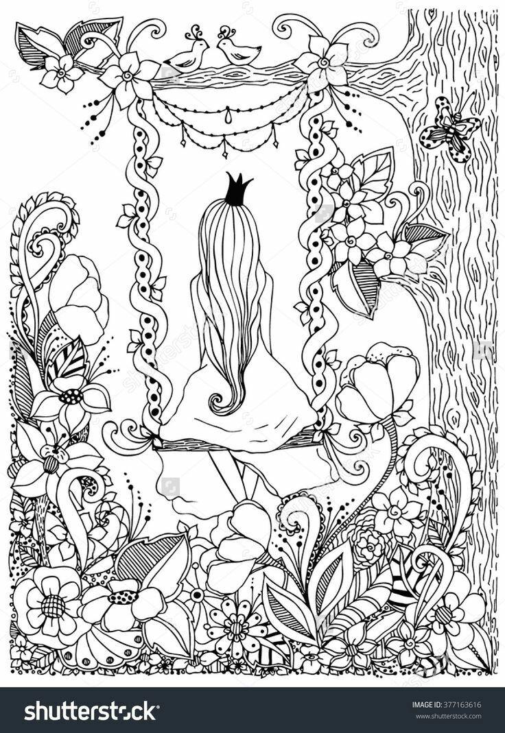 Ausmalen Erwachsenen Malvorlagen Erwachsenen Färbung In Malvorlagen Färbung Bücher Färbung In Bildern Vektor Blumen Färbung Mandalas