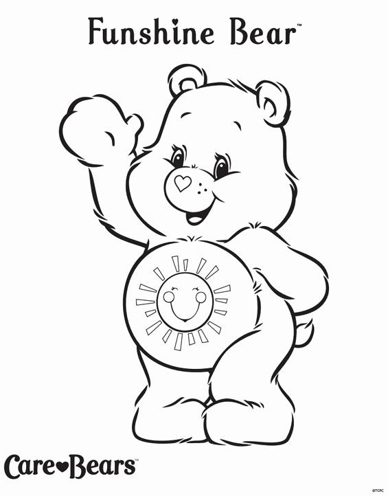 Care Bear Coloring Book Background