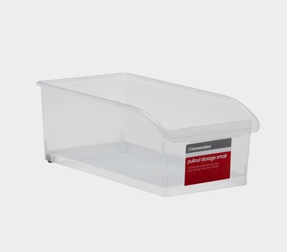 Clear Pull Out Storage - Small | Kmart