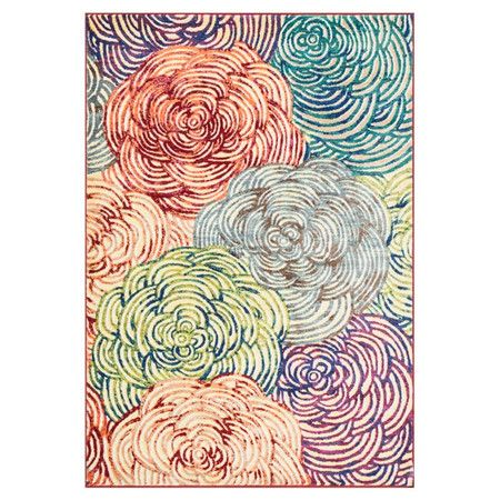 Natasha Rug  at Joss and Main - Looks like mum zentangles in different colors.