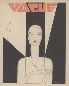 Bonnie Cashin, Vogue cover, watercolor and pencil illustration, 1927.