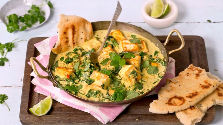 Recipe for Paneer in Spinach Sauce