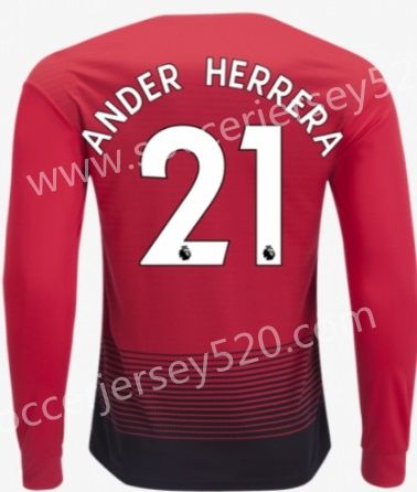 5b4de8230aa 2018-19 Manchester United Home Red #21 (ANDER HERRERA) Thailand LS Soccer