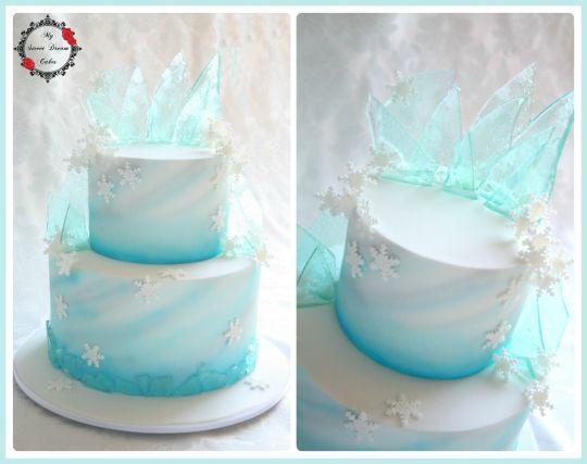 Frozen Theme Cake - Cake by My Sweet Dream Cakes - CakesDecor