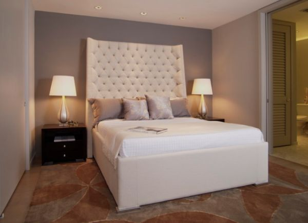 white-leather-bed-with-tall-headboard