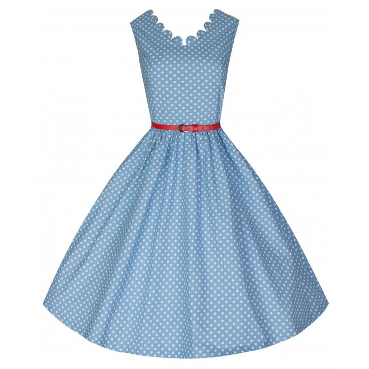 Daria Pastel Blue Polka Dress | Vintage Inspired Fashion - Lindy Bop