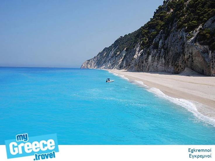 Egkremnoi Beach in Lefkada by www.lefkada-tours.gr
