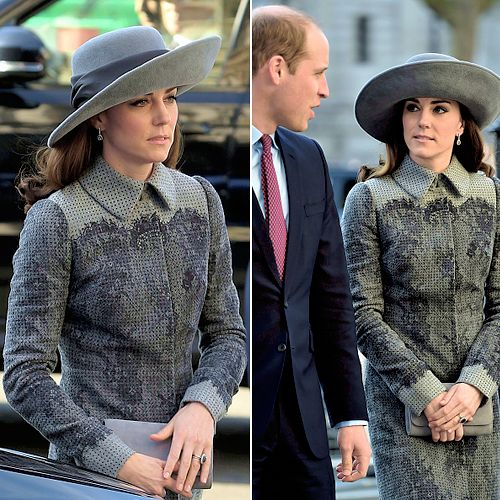 The Duke and Duchess of Cambridge arriving to attend a Commonwealth Service at Westminster Abbey in central London on March 14, 2016.